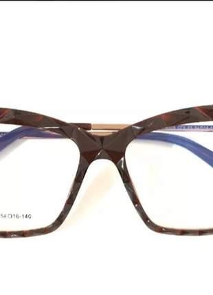 Armação feminino chic óculos oluxo 51 importado original