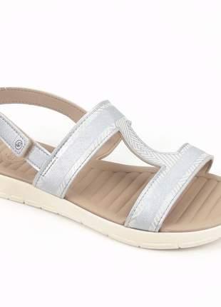 Sandália grendha sense soft na cor prata