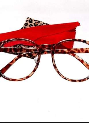 Armação redonda óculos geek oversized charming nerd vitange