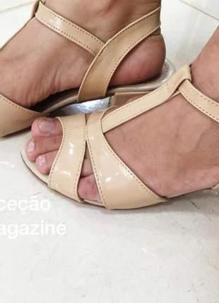 Sandália bege 4cm