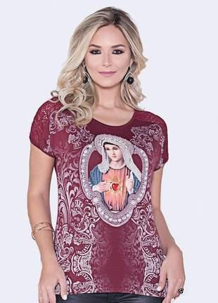 Blusa imaculado coração de maria - coleção pedraria