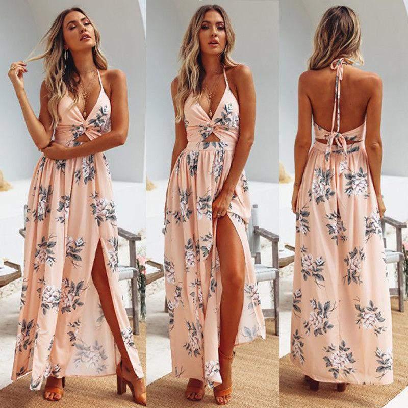 4639560f1 Vestido longo alexa - R$ 105.95 (decotado) #23339, compre agora | Shafa