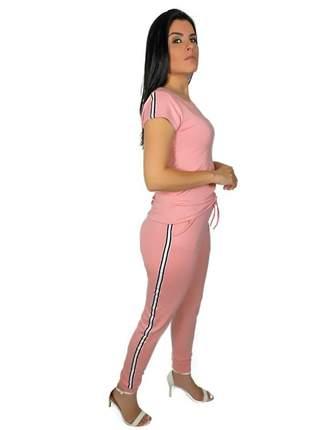 Conjunto blusa e calça jogger com faixas laterais