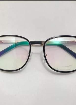 Armação óculos de grau feminino chic oluxo