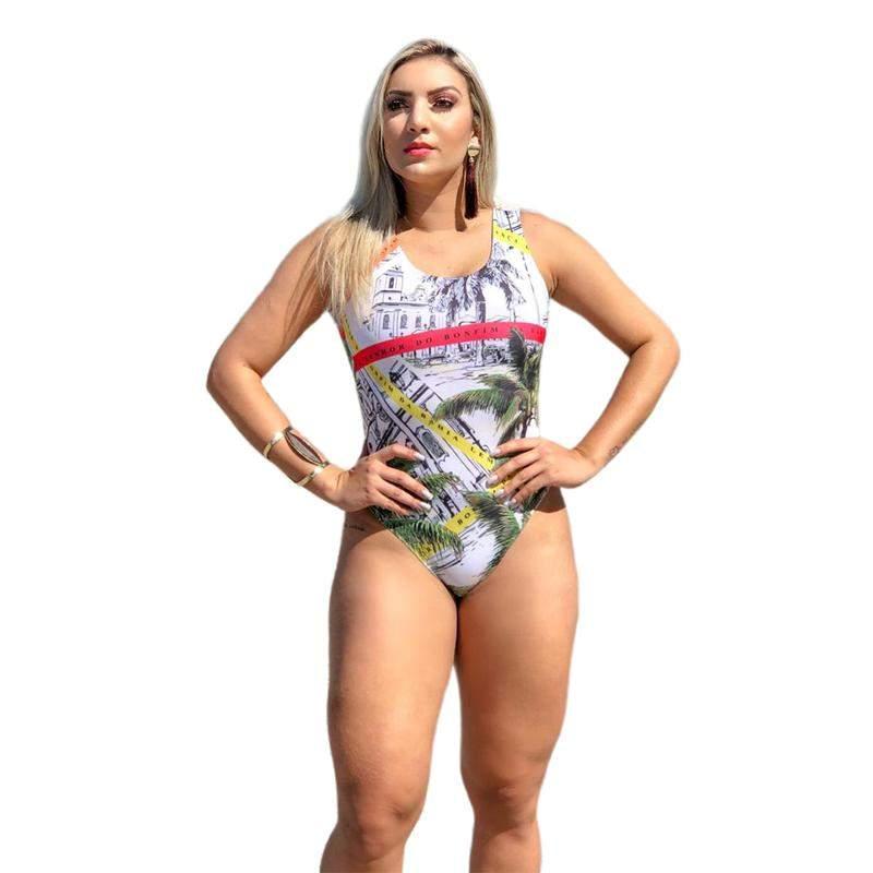 46af17bf5a Maiô body feminino moda praia cavado fio sem bojo bgs 146b - R ...