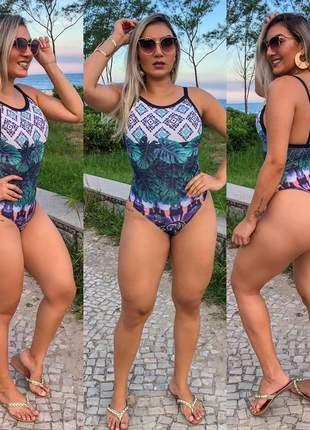 336f230c6 Maiô body feminino moda praia cavado fio sem bojo bgs 001a - R ...