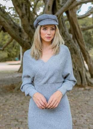 Vestido tubinho de tricô