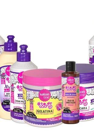 Kit salon line cachos dos sonhos vegana liberada completo + 02 produtos