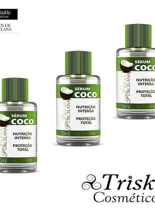 Kit 3 sérum coco - fios de porcela triskle 10ml