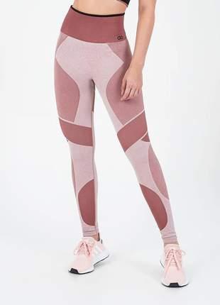 Legging alto giro sem costura rosê