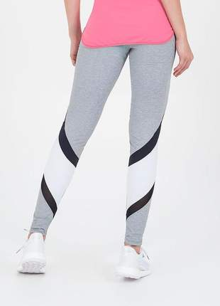 Legging alto giro connect recortes cinza