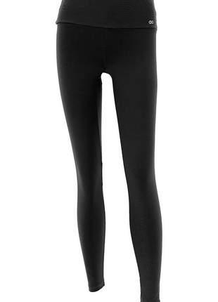 Legging alto giro supplex termo preto