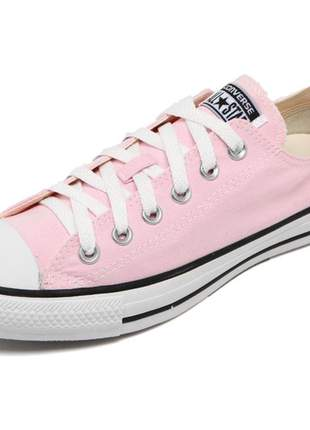 Tênis all star rosa claro