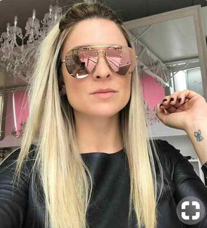 4c78e3e9e Óculos de sol luxo chique de mulher redondo espelhado pink cor: fúcsia1