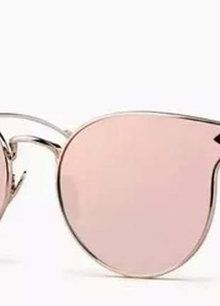 Óculos gatinho armação geometrica lindo espelhado feminino