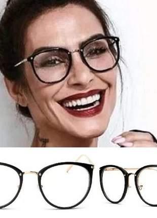 63febdba7 Armação para grau feminino oculos em acetato geek vintage - R ...
