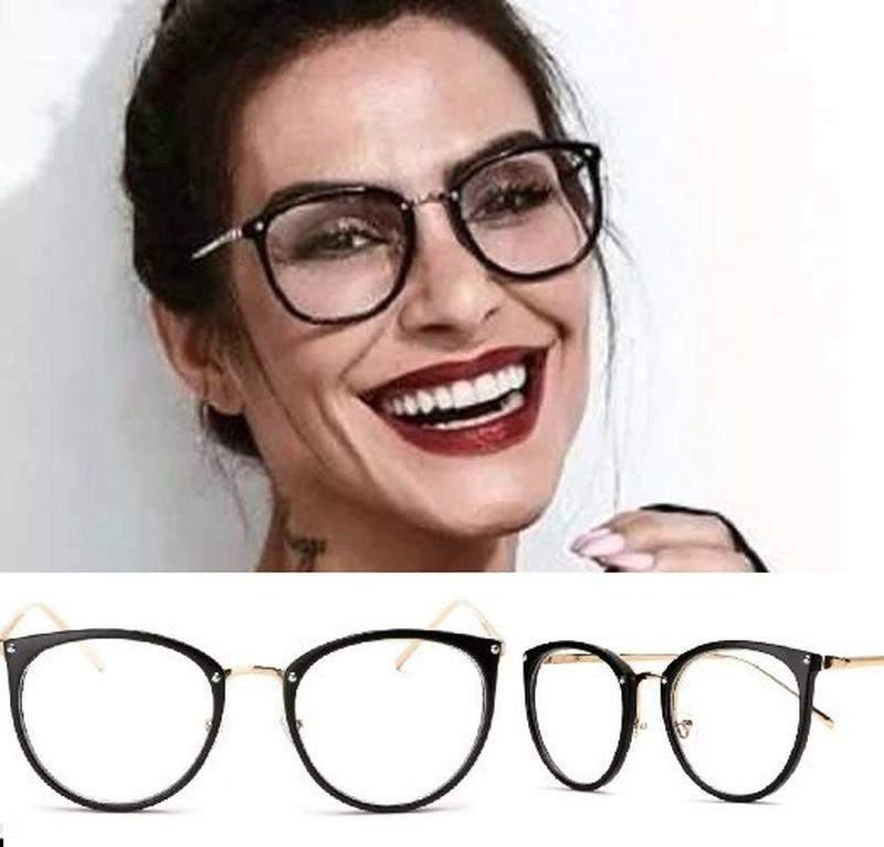 b4925280e Armação para grau feminino oculos em acetato geek vintage - R ...