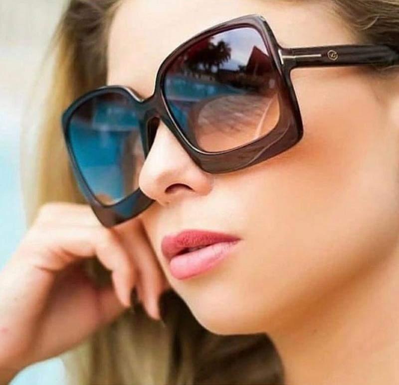 8ac806805 Óculos para viajar lente grande feminino chique modelo novo - R ...