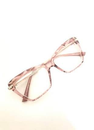 Armação óculos grau feminino gatinho 5025 diamante rosa