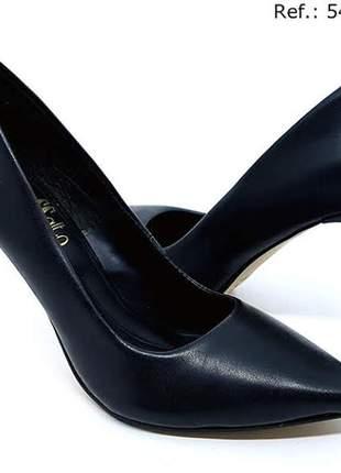 Sapato feminino scarpin sobressalto salto alto preto #sapato para festa