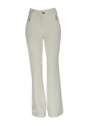 Calça infinity fashion flare off white