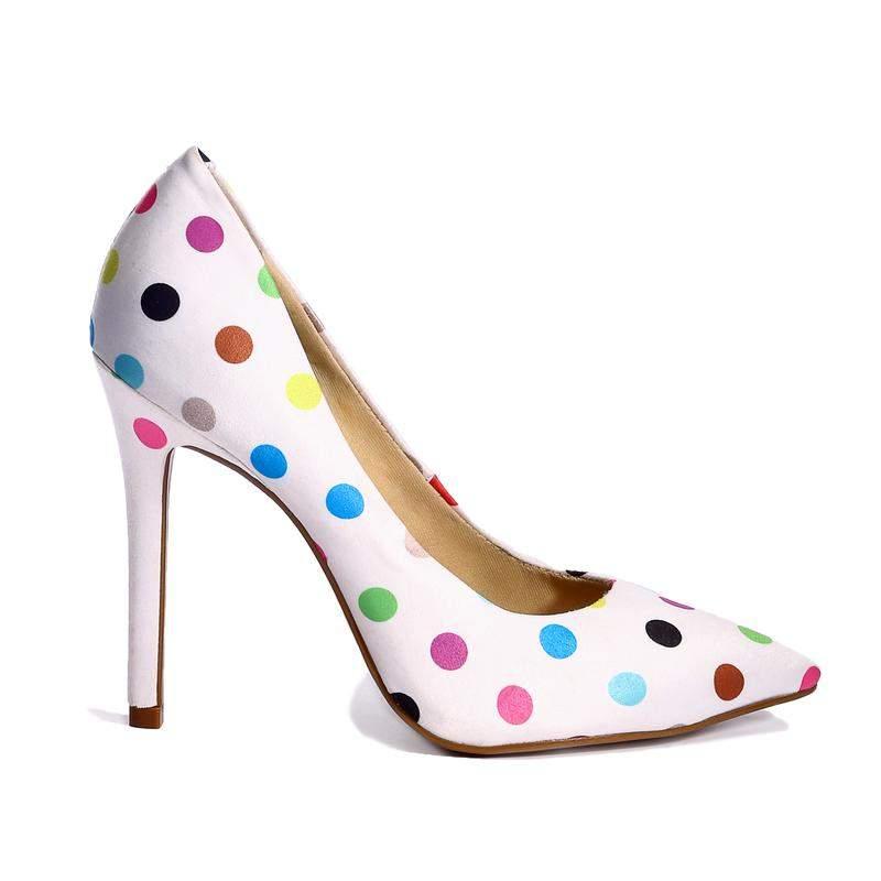 c3528fb7bd Sapato scarpin feminino retro poa lasenna - R  249.90 (confortável ...