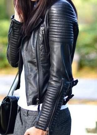 Jaqueta couro sintético leather