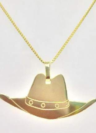 Pngente chapéu, folheada a ouro 18k
