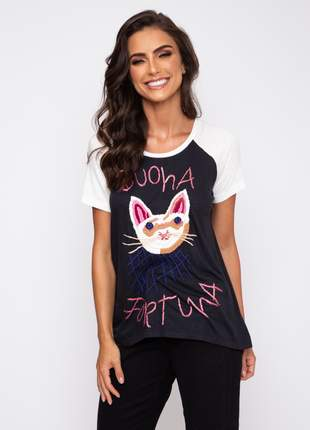 Blusa cat bordado 1011