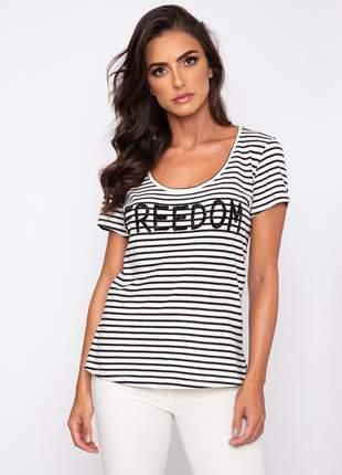 Blusa bordado freedom 1007