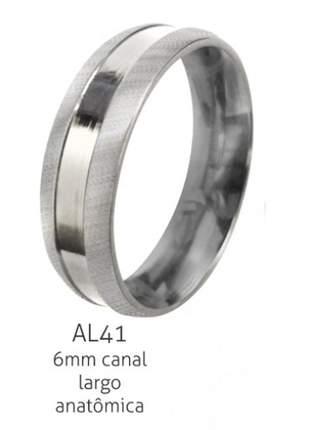 Aliança 6mm canal largo, aço