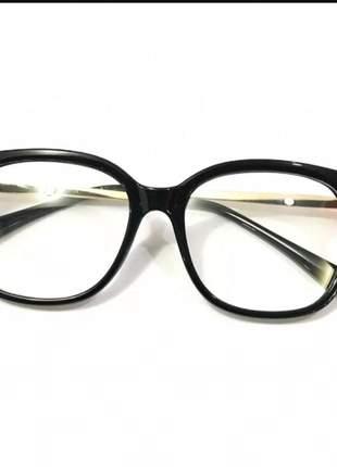 Óculos armação para grau feminino grande acetato chic