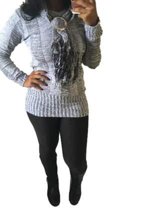 Blusa de frio tricot cacharel cinza