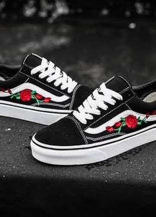 Vans old skool tribal flor preto