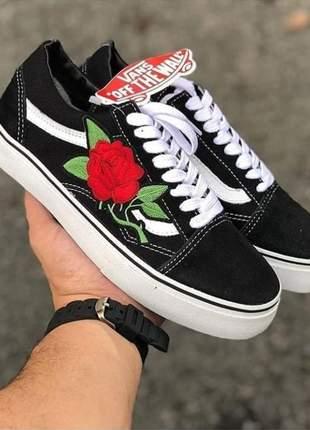 Vans old flor preto