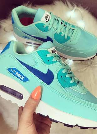 Nike air max 90 verde com azul