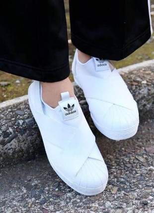 Adidas slip on branco