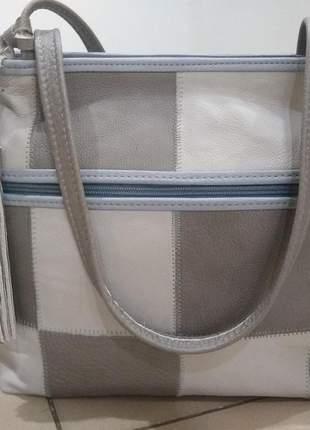 Bolsa 100% couro legitimo direto do fabricante em patchwork de couro produto artesanal