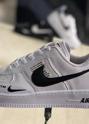 Nike air force branco com preto