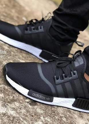 Adidas nmd preto com branco