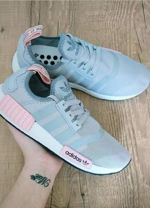 Adidas nmd cinza com rosa
