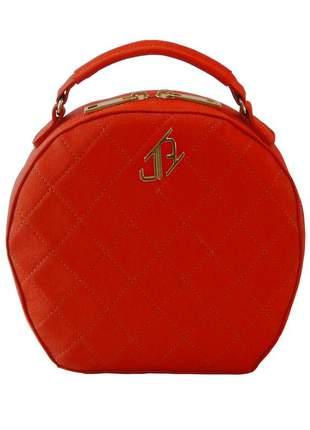 Bolsa de couro redonda johny rafael