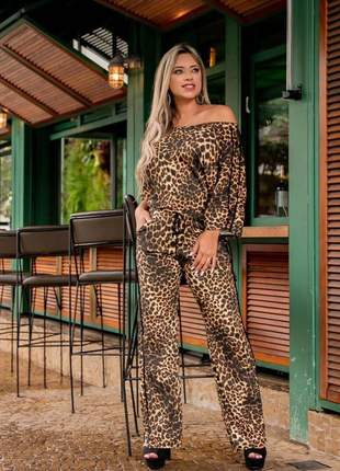 Macacão animal print