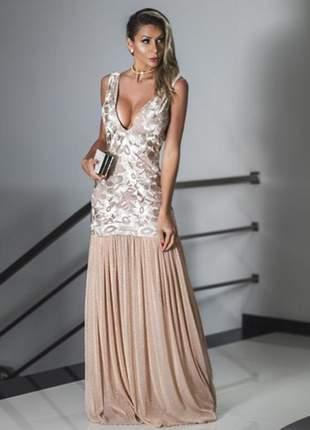 34a7a2e5aaf2 Vestido festa marsala - madrinha casamento formatura luxo - R$ 399.00 |  SHAFA - O melhor da moda feminina