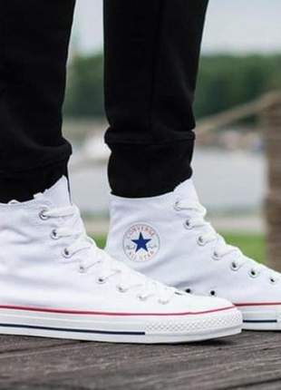 All star cano-alto branco
