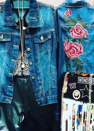 Jaqueta jeans bordada