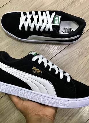 Puma suede preto com branco