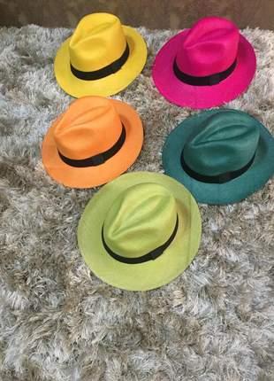 Chapéu panamá colorido legítimo do equador