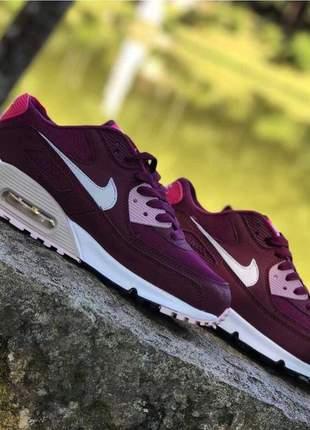 Nike air max 90 roxo com rosa.
