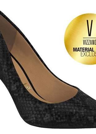 Sapato scarpin vizzano tendencia animal print